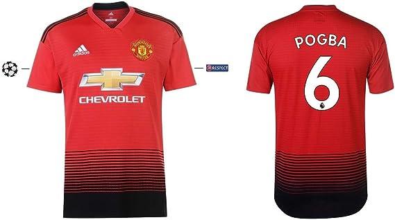 Manchester United 2018-2019 Home UCL Pogba 6 - Camiseta Infantil ...