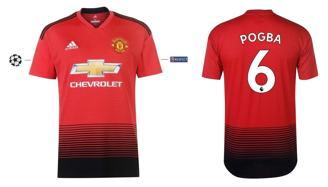 Manchester United Trikot Kinder 2018-2019 Home UCL - Pogba 6
