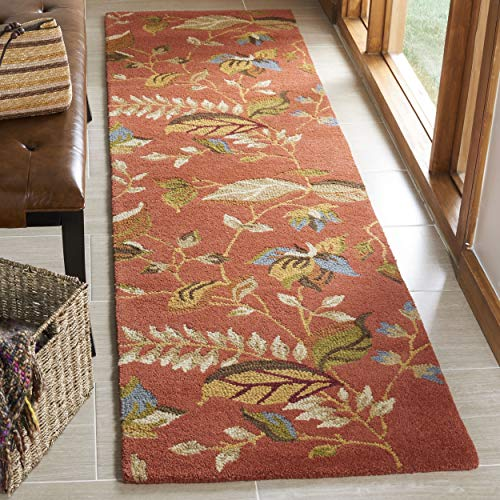 lection BLM913A Handmade Rust and Multi Premium Wool Runner (2'3