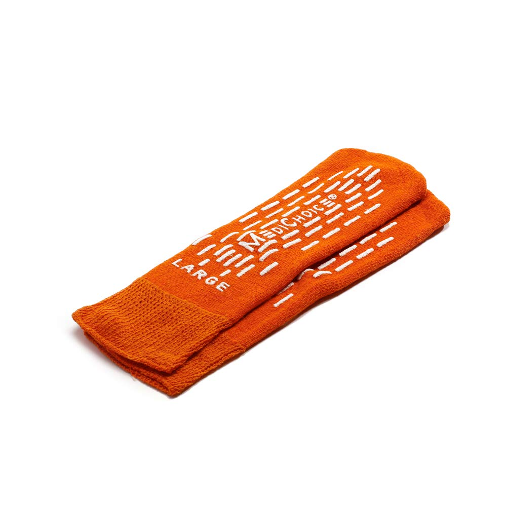 MediChoice Terry Cloth Slippers, Double Tread, Large, Orange, 1314SLP12RDO (Case of 48 Pairs - 96 Total) by MediChoice (Image #1)