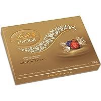 Lindt Lindor Assorted Chocolates Gift Box, Milk, Dark and Hazelnut, 156g