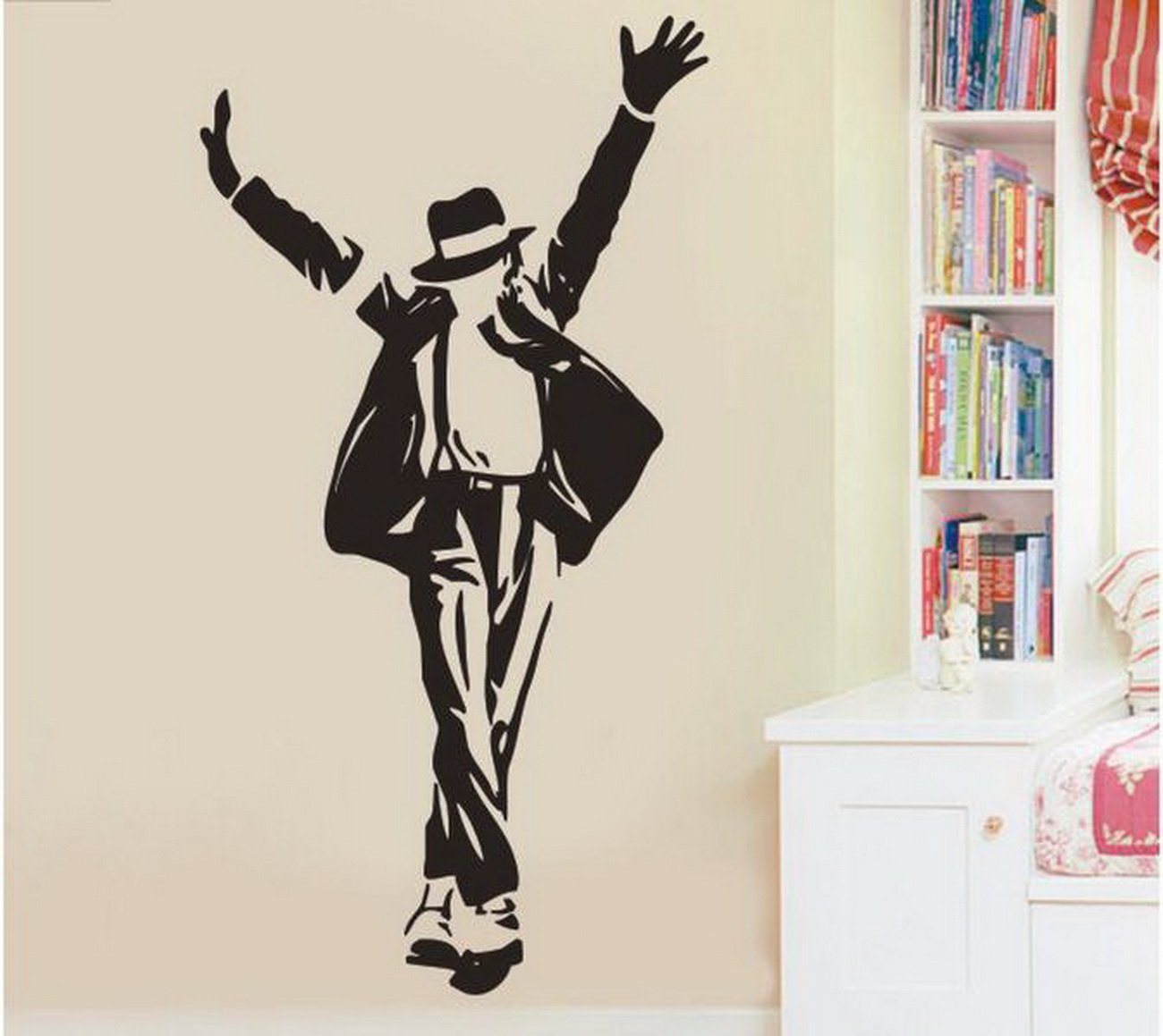 Amazon mianmiantmmichael jackson wave wall stickers diy amazon mianmiantmmichael jackson wave wall stickers diy mural art decal self adhesive removable pvc wallpaper decorblack236 inch3519 inch amipublicfo Gallery