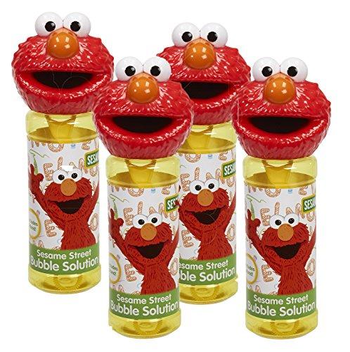 (Little Kids 99925E Sesame Street Elmo 8oz Bubble Head with Wand - 4PC Set)