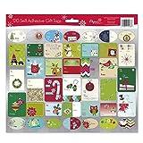 English Pack of 120 Self Adhesive Christmas Gift