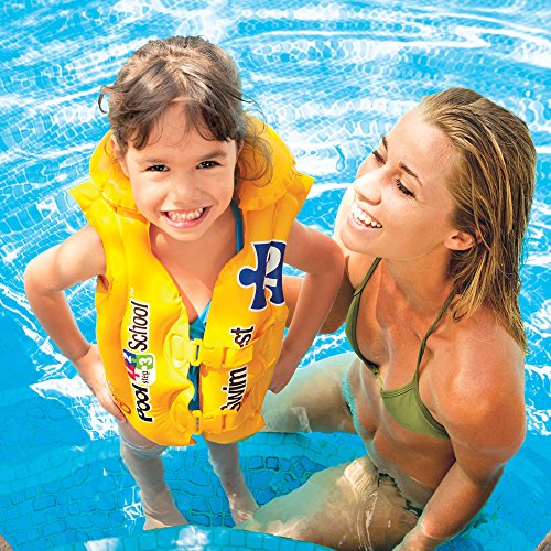 Intex pool school deluxe swim vest import it all - Toys r us swimming pools for kids ...