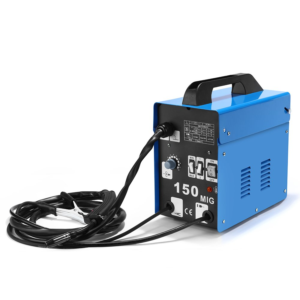 SUNGOLDPOWER MIG 150A Welder Flux Core Wire Automatic Feed Welding ...