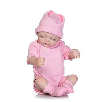 10 pulgadas de Kawaii Durmiendo niña de suave silicona Girl Girl realista recién nacido bebé de la muñeca mejor regalo de cumpleaños: Oficina y papelería