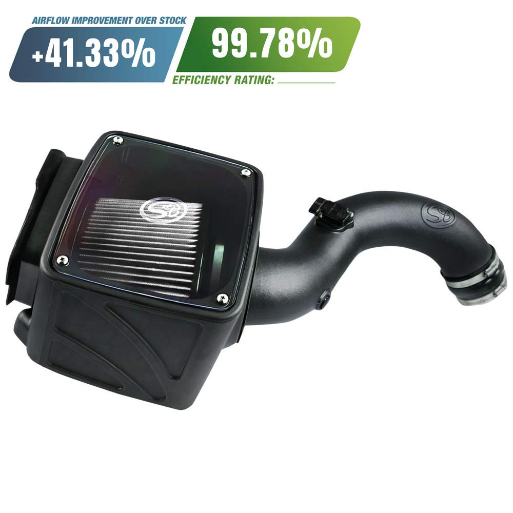 S/&B Filters 75-5102 Cold Air Intake for 2004-2005 Chevy//GMC Duramax LLY 6.6L Cotton Cleanable Filter