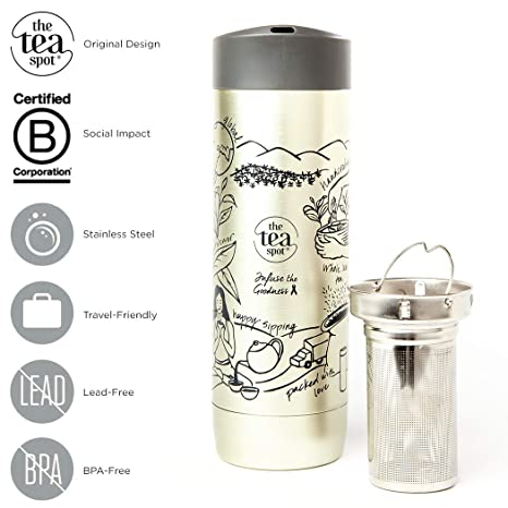 Amazon.com: The Tea Spot, vaso de té de montaña de doble ...