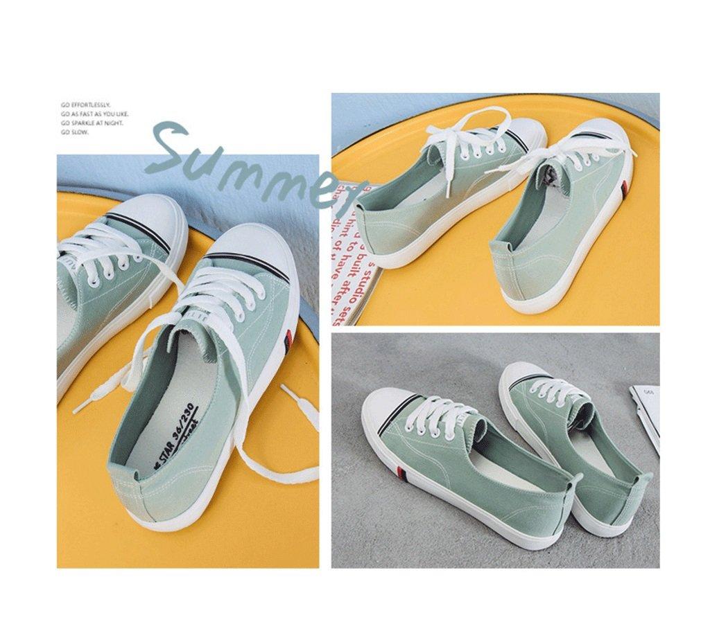 La boca baja calza los zapatos planos al aire libre de los zapatos de lona respirable respirables de los zapatos de la señora (5 colores opcionales) ( Color : Negro , Tamaño : 36 )