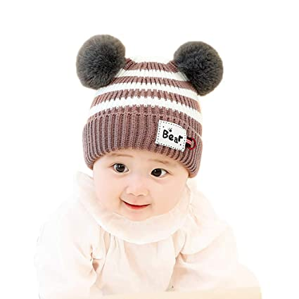175293ad5 Amazon.com: Gbell Baby Toddler Winter Crochet Hat Pom Pom - Cute ...