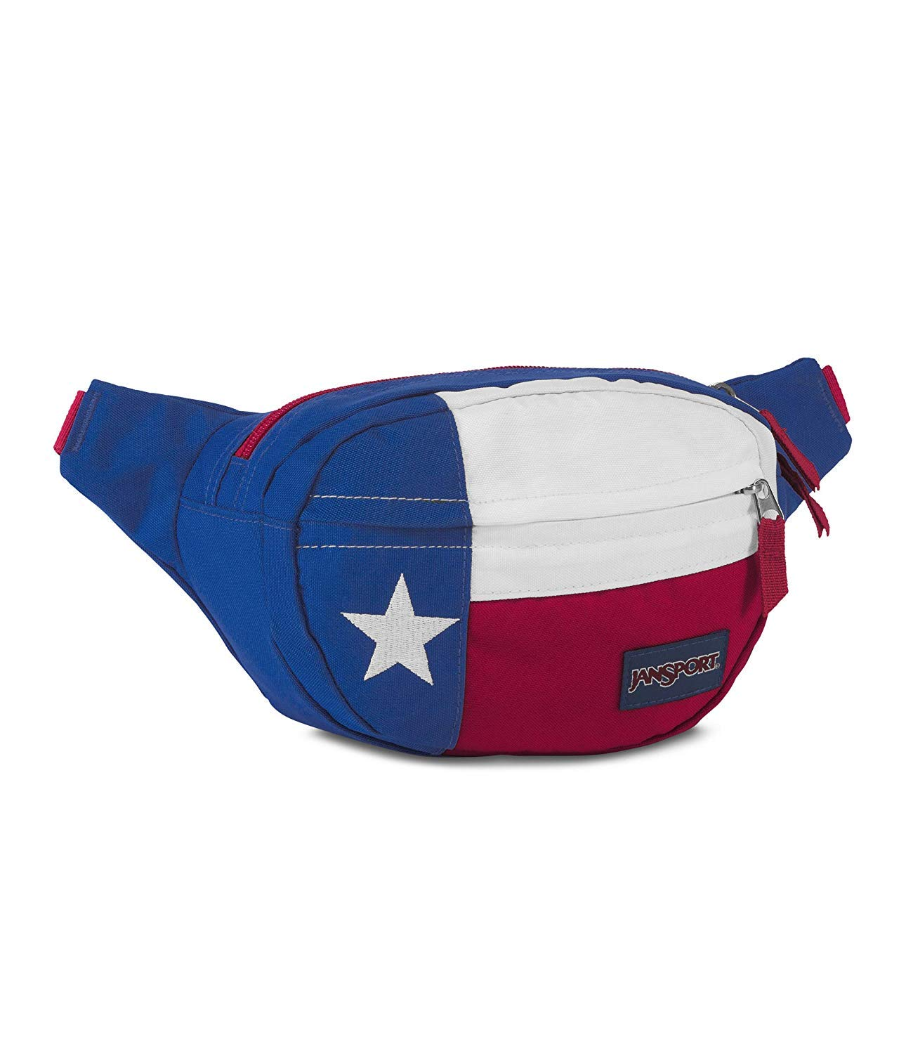 JanSport Fifth Ave Fanny Pack (Blue/Red/White-Lone Star)