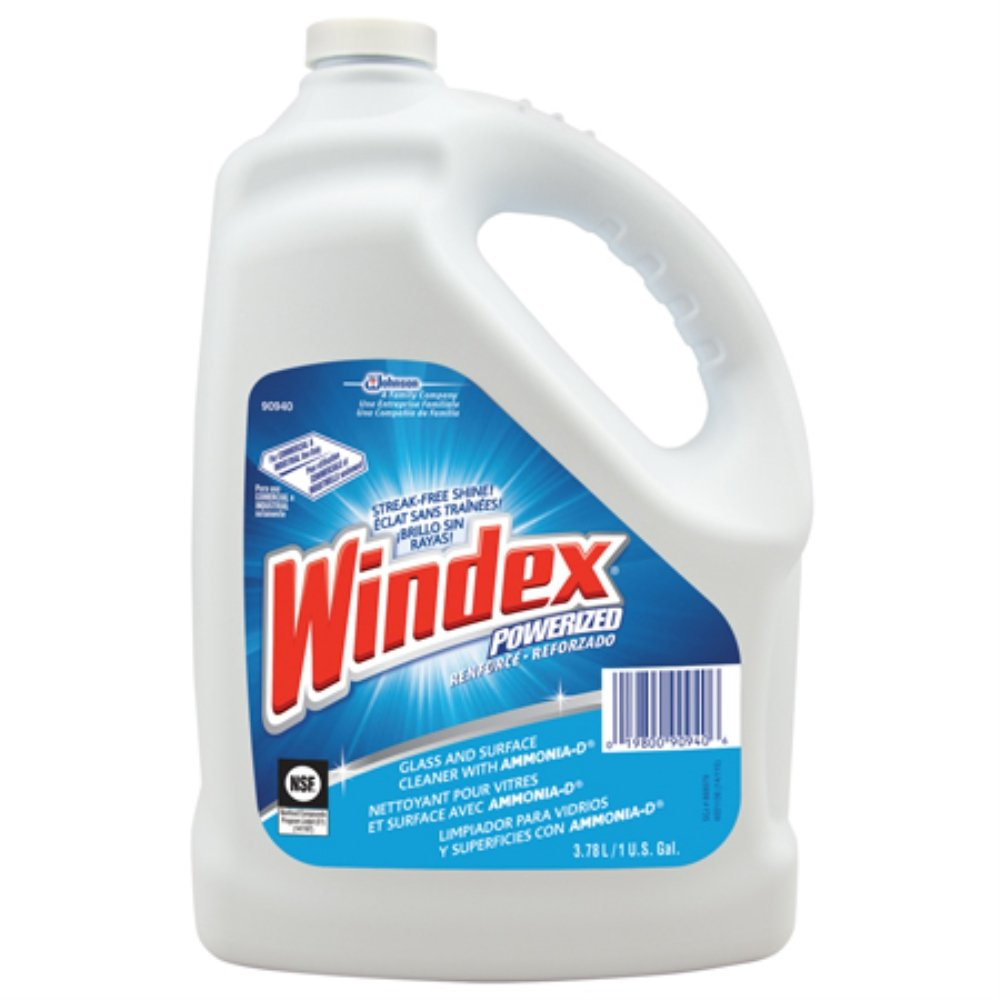 Windex Powerized Glass Cleaner with Ammonia-D (1-Gallon, 4-Pack)