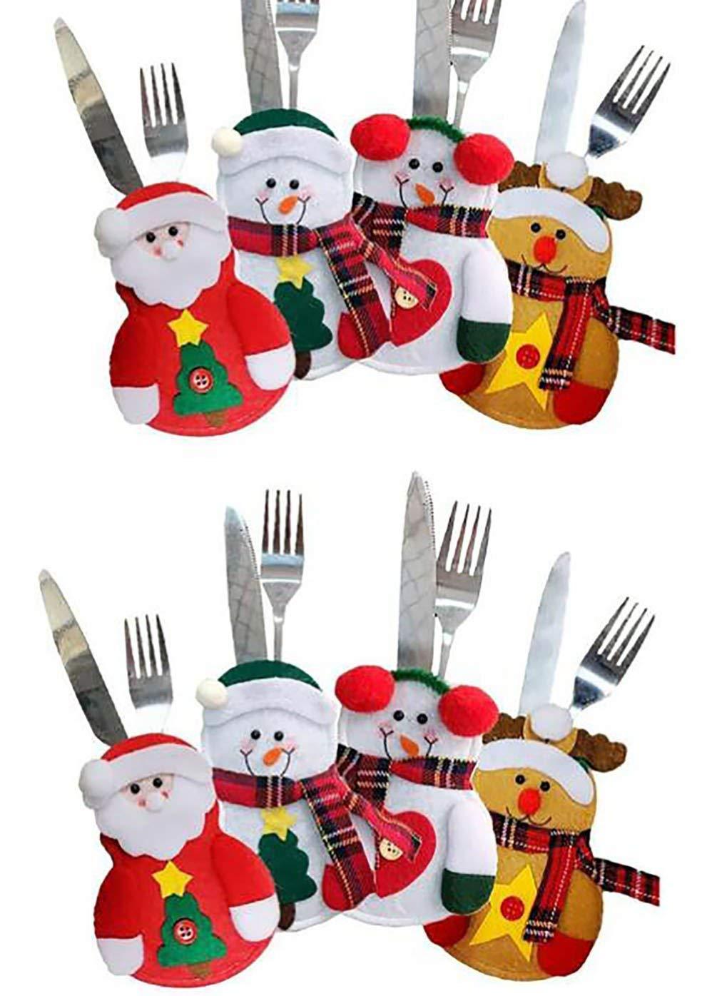 Miig-du Jeweils zwei Teile, also insgesamt 8 Teile! (Besteck-Taschenset Besteck-Set Weihnachtsgeschirr)