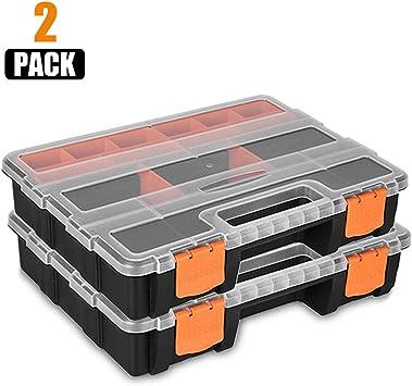 Caja de almacenamiento de herramientas Starvast, 2 piezas de plástico para herramientas y piezas de la