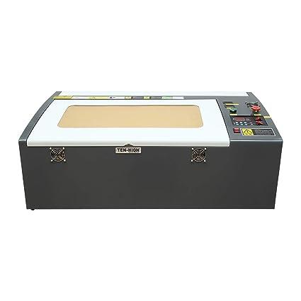 TEN-HIGH Crafts Laser Engraving Machine 50W 3050 300x500mm 11 8x19 7 inches  with USB Port, Standard Version