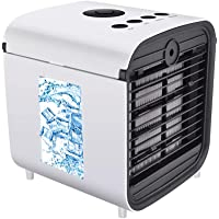 Nifogo Draagbare mini-airconditioning, ventilator, luchtbevochtiger, luchtreiniger, 3-in-1, tafelluchtconditioner…