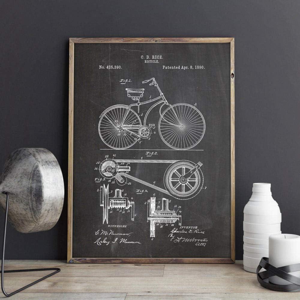 Impresiones de bicicletas Ciclismo Obra de arte Bicicleta Arte de ...