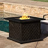 Saratoga Outdoor | 33 Square Fire Table | Gas, Propane Fire Pit | 40,000 BTU | Includes Lava Rocks Review