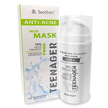 Máscara de barro de mar negro natural para acné y piel grasosa