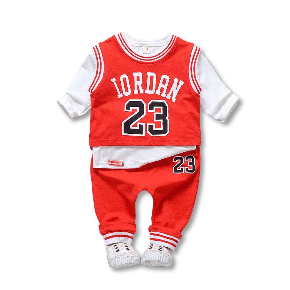 LJA Sport Basketball Jersey poli/éster Ropa Infantil Baloncesto Traje ni/ño Deporte Chaleco Pantalones Cortos