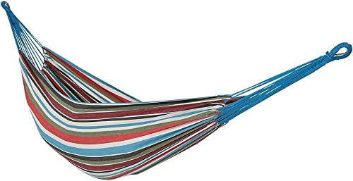 Sunnydaze Brazilian Double Hammock, 2 Person Portable Bed – for Indoor or Outdoor Patio, Yard, and Porch Cool Breeze