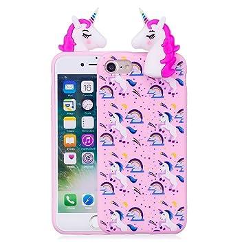 reputable site 3fd24 bd0fa iPhone cover 8/Unicorn Iphone 4 Case 3D Cute Cartoon: Amazon.co.uk ...