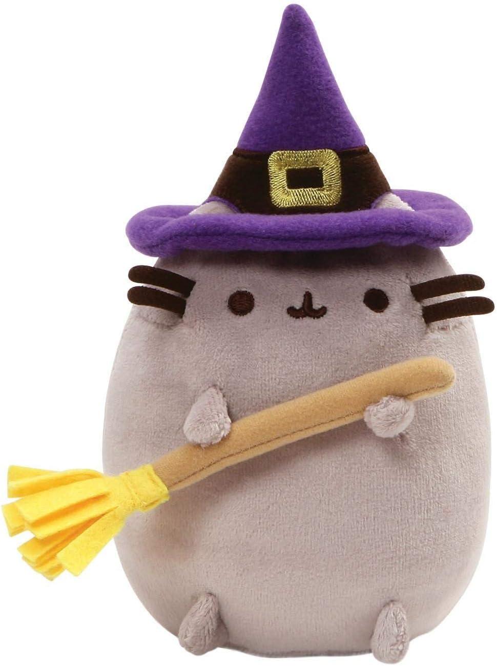 "GUND Pusheen Witch Halloween Cat Plush Stuffed Animal, Gray, 7.5"""