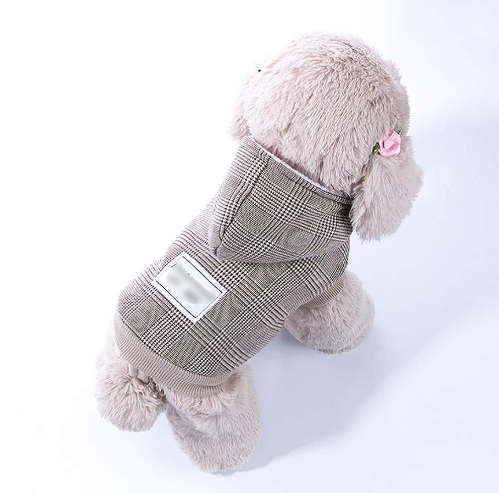 Coffee color XXL Coffee color XXL Dog Two-Legged Vest, Puppy Cotton Coat, Warm Thick Winter Coat(Cotton)