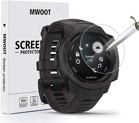 MWOOT Pack de 4 Compatible con Garmin Instinct Protector Pantalla ...