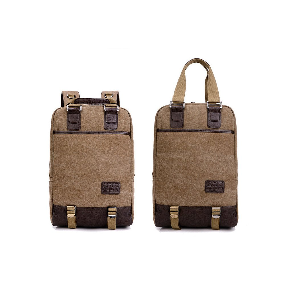 9715f3aff2ea Amazon.com: H.S.C. School Laptop Backpack, Canvas School bag Fits Up ...