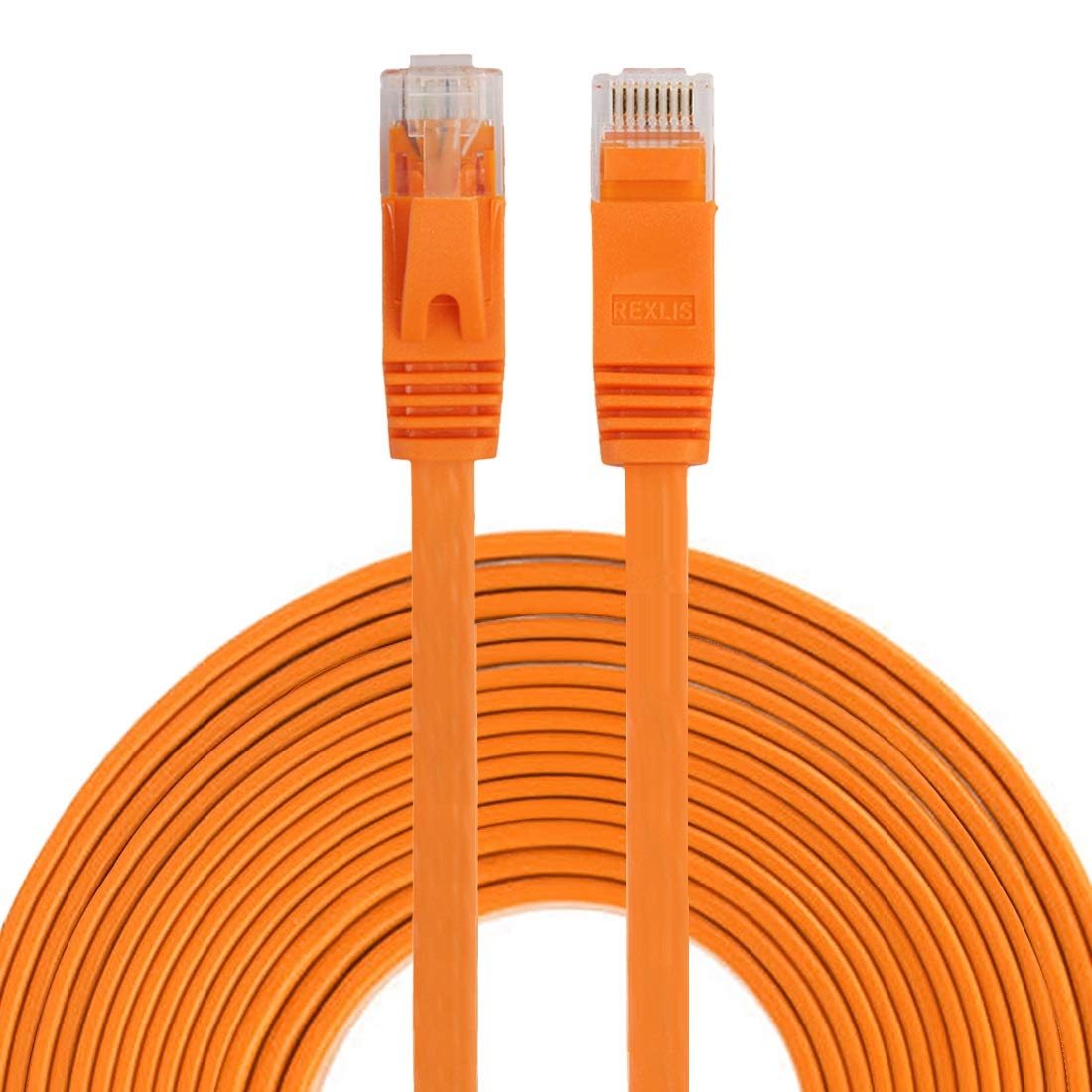 Color : Orange Network Accessories Patch Lead RJ45 Orange HUFAN 8m CAT6 Ultra-Thin Flat Ethernet Network LAN Cable