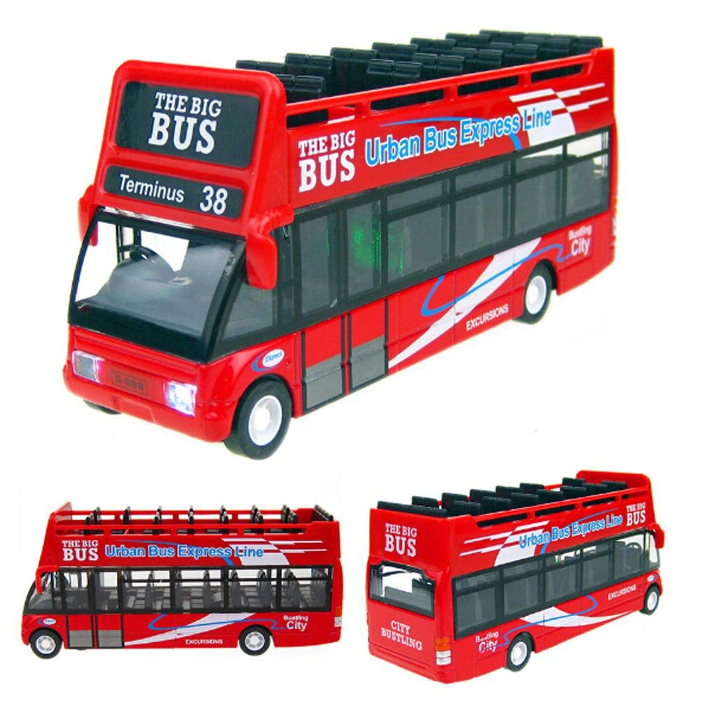 Amazon.com: Alloyed Mini Urban Bus Model with Light and Sound, Red: Health & Personal Care