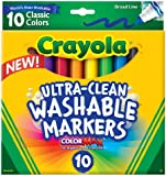 Crayola 10 Ct Ultraclean Broad Line Washable Markers, Color Max