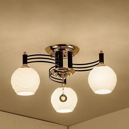 GJ- Lámparas de Techo de salón Lámparas de Dormitorio Retro ...
