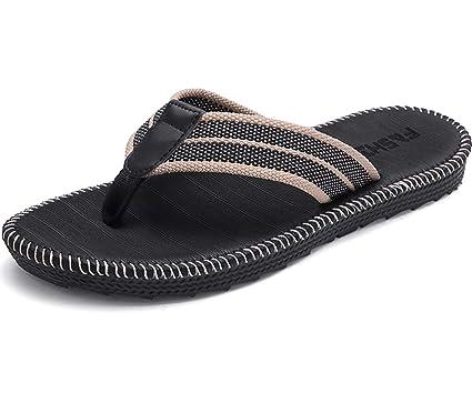 dd2168030f4b Men s Sandals Light Weight Shock Proof Slippers Flip-Flops Black 6.5 ...