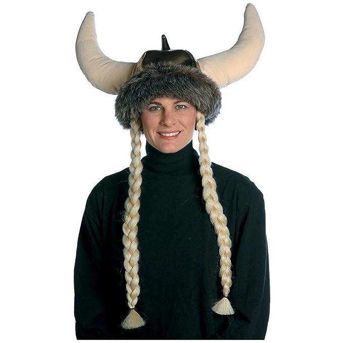 19e21697c9221 RASTA IMPOSTA 7051 marrón Espacio Vikingo Sombrero con Trenzas. (Talla  única)  Amazon.es  Juguetes y juegos