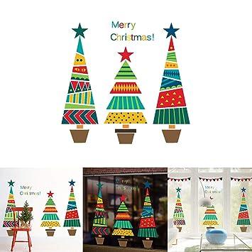 Amazon Com Hsgbvicts Cartoon Christmas Tree Wall Sticker Shop