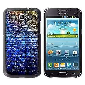 Paccase / SLIM PC / Aliminium Casa Carcasa Funda Case Cover para - Cobblestones City Blue Rain Reflection - Samsung Galaxy Win I8550 I8552 Grand Quattro