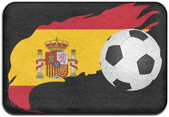 Sunny R Balón de Fútbol con Bandera de España Alfombra de Entrada Rectangular Alfombrilla Decorativa Antideslizante para Baño de Cocina 15.7×23.5 Pulgadas: Amazon.es: Hogar