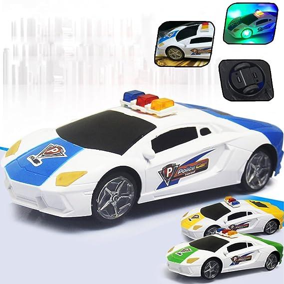 3D Illuminazione Auto della polizia giocattolo con musica dinamica e le luci lampeggianti