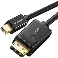 Ugreen cable Mini Displayport(mini DP) a Displayport(DP) macho a macho, cable adaptador para monitor de ordenador soporte 4K x 2K Resolucion Thunderbolt Compatible para MacBook, Ultrabook, or Tablet (6Ft, 2 Metro, Negro)
