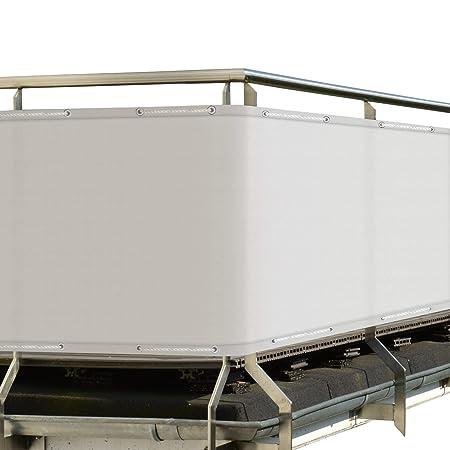 colore: grigio in PVC Copertura per ringhiera del balcone casa pura dimensioni: 90 x 500 cm
