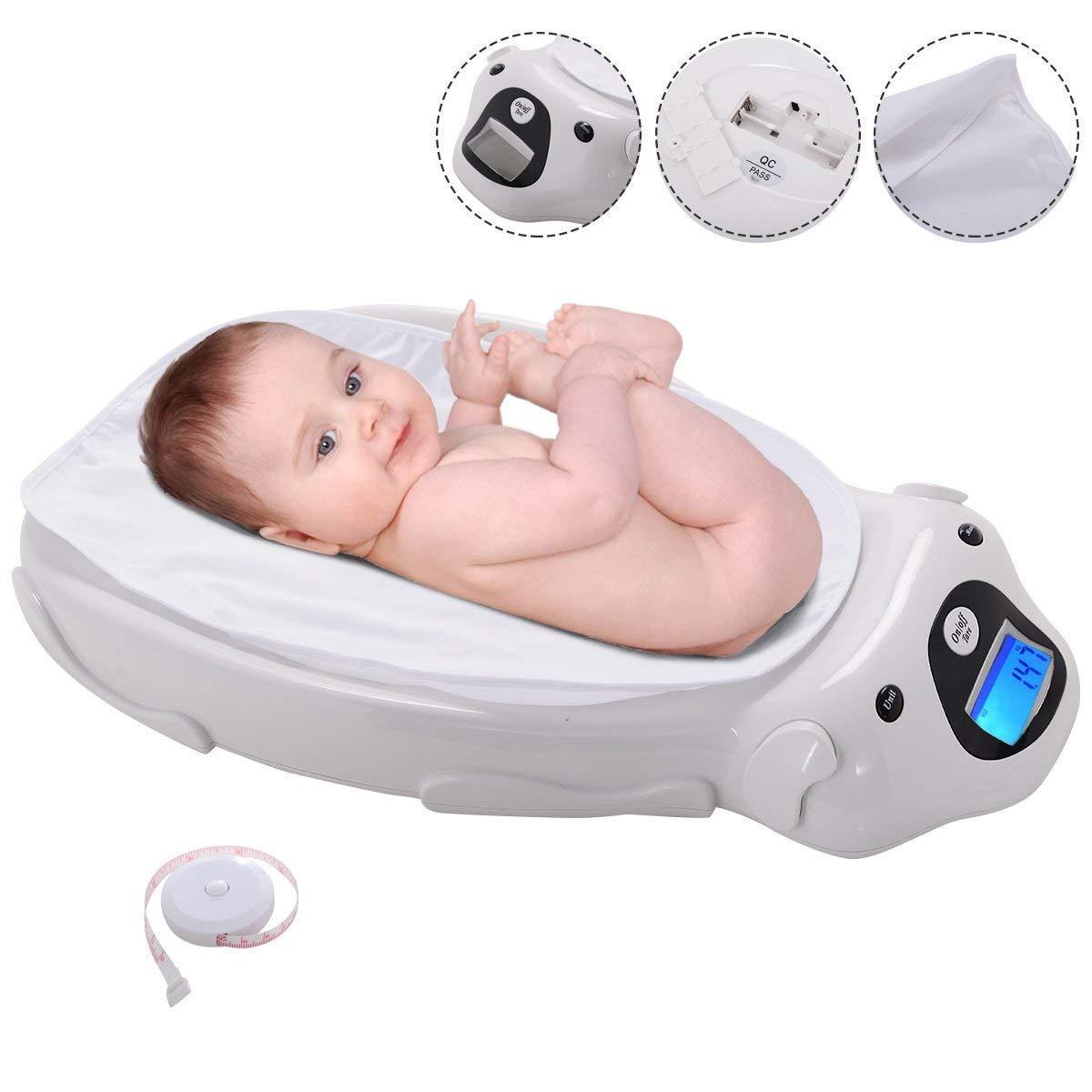 COSTWAY Báscula para Bebés Electrónica Balanza Pantalla Digital Música Carga Máxima 20 KG: Amazon.es: Bebé