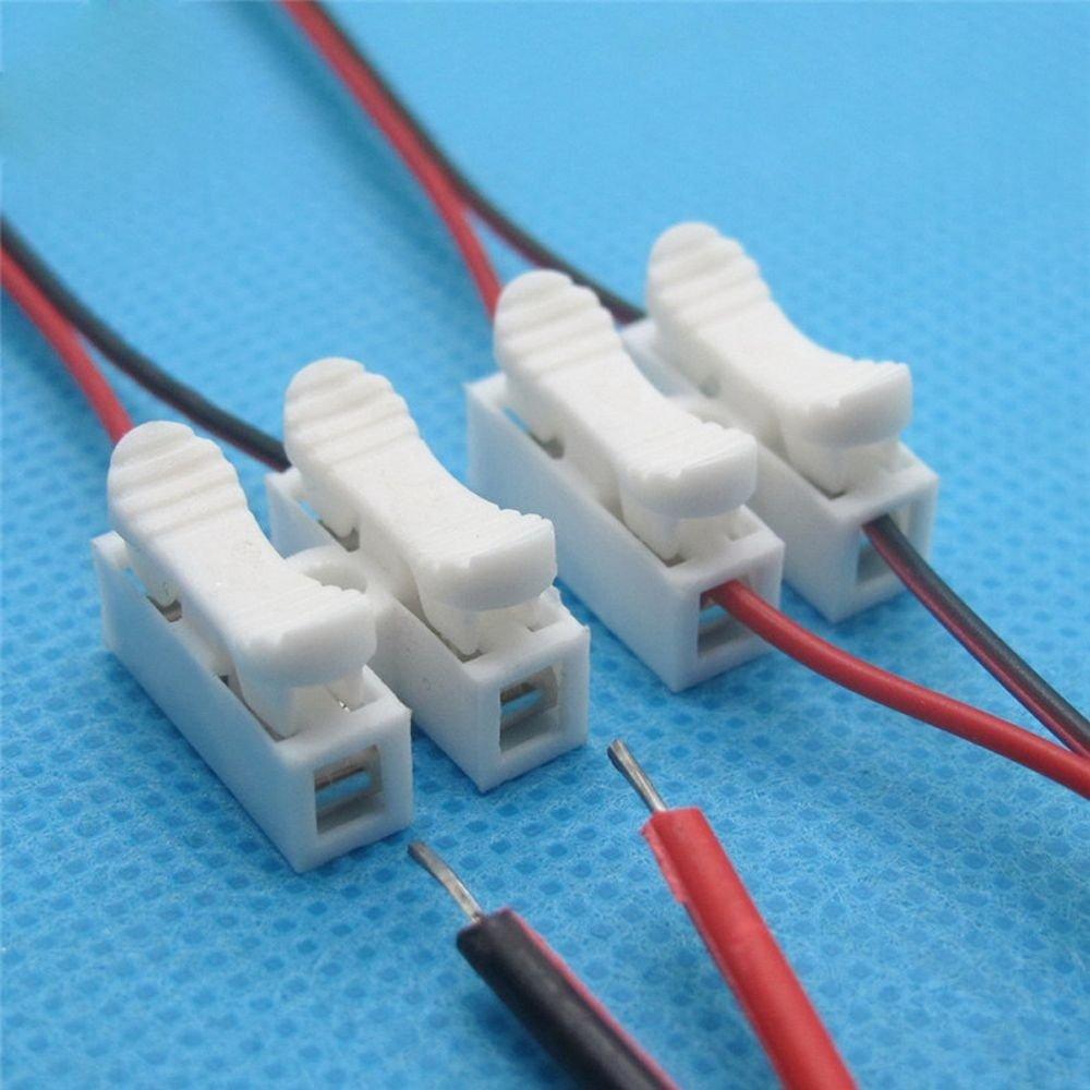 Avec pinces de serrage Lot de 30/connecteurs de c/âbles blancs rapides sans soudure Ulable