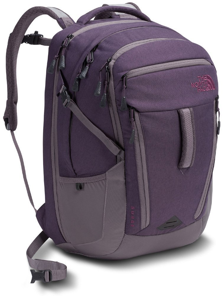 The North Face Women's Surge Laptop Backpack - 15'' (Dark Eggplant) by The North Face
