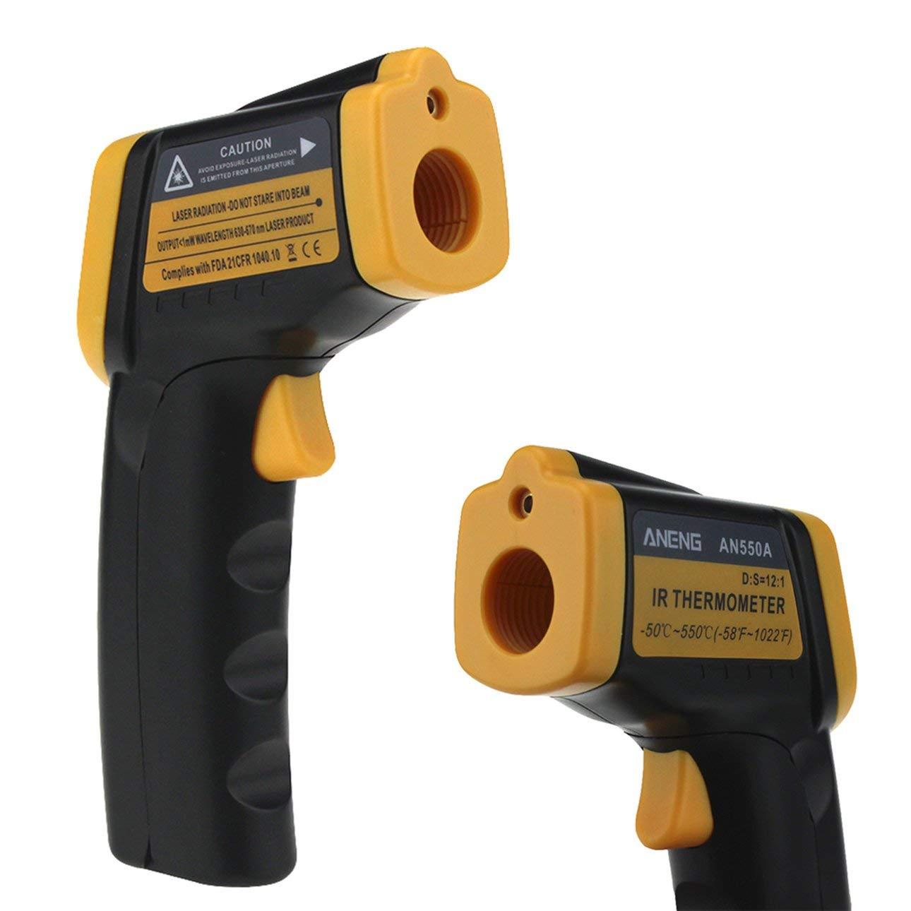 Ballylelly New Professional AN550A Termometro a infrarossi Display digitale LCD Misuratore di temperatura del laser Termometro senza contatto