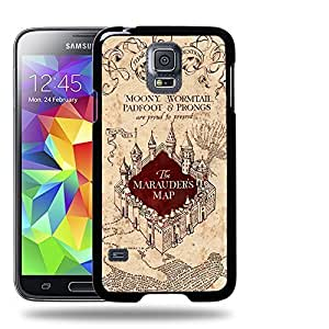 Case88 Designs Harry Potter & Hogwarts Collections Marauder's Map Protective Snap-on Hard Back Case Cover for Apple Samsung Galaxy S5