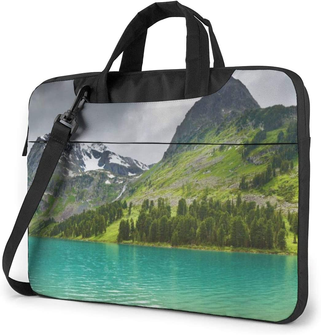 Yuotry Neoprene Laptop Sleeve Case Nature Mountain and Lake Portable Laptop Bag Business Laptop Shoulder Messenger Bag Protective Bag 15.6 Inch