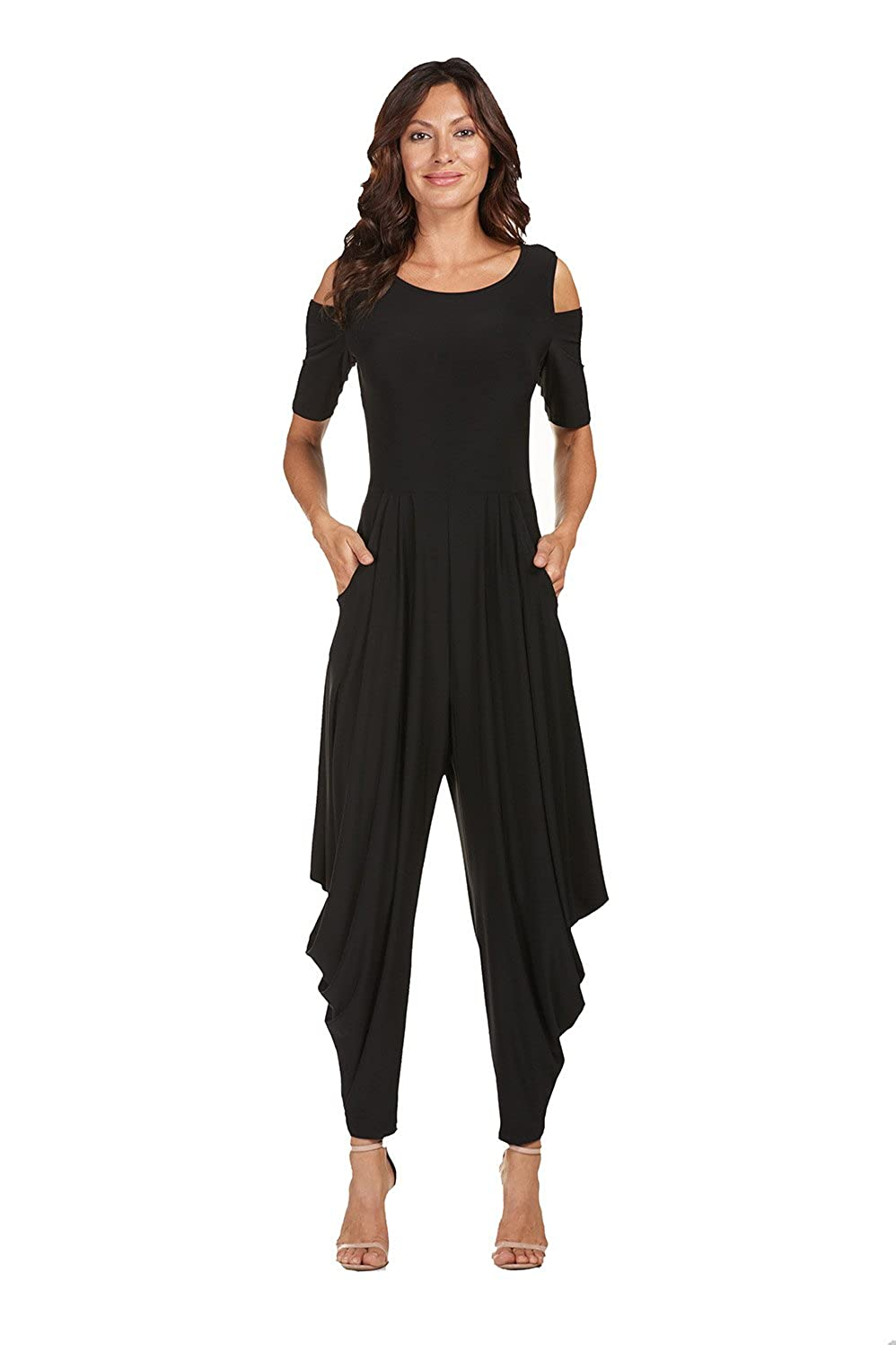 Frank Lyman Women's Jumpsuit Style 176074 Black